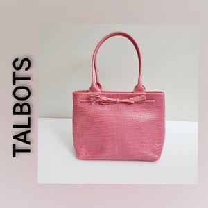 Talbots Genuine Leather Flamingo Pink Shoulder Bag